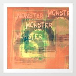 Monster Fangs Art Print