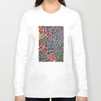 cracked Long Sleeve T-shirts featuring Cracked Earth by Klara Acel