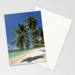 Palm beach, the Seychelles, La Digue island, Stationery Cards