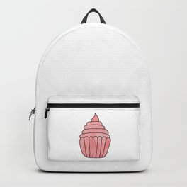 Design with watercolor pink cupcake Backpack