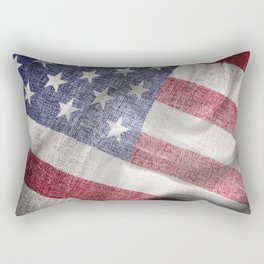 4th of July Fabric of America Rectangular Pillow