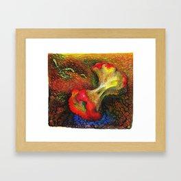 Apple and Compost Framed Art Print