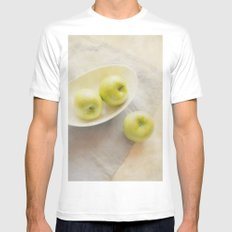 Painterly Apples White SMALL Mens Fitted Tee