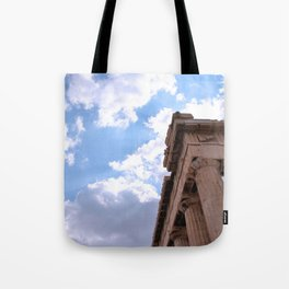 Sky above Parthenon Tote Bag