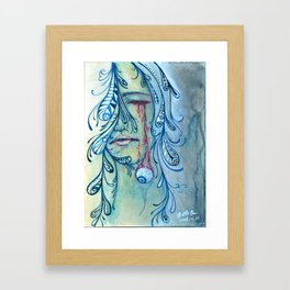 an anguished heart Framed Art Print