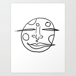 Moon Face Art Print