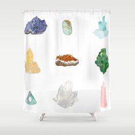 Gemstones Shower Curtain