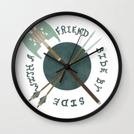 With a friend Wall Clock