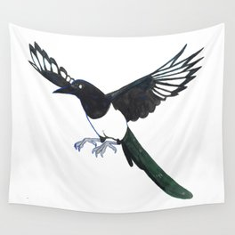 Cute Magpie Wall Tapestry