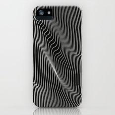 Minimal curves black iPhone SE Slim Case
