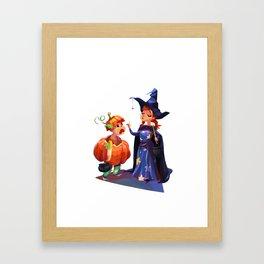 Halloween costumes Framed Art Print