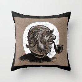 Victorian Profile_3 Throw Pillow