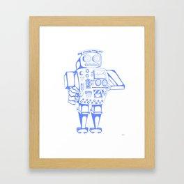 Blue Coffee Maker Framed Art Print