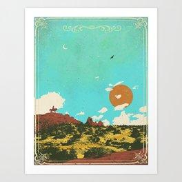DESERT DUSK Art Print