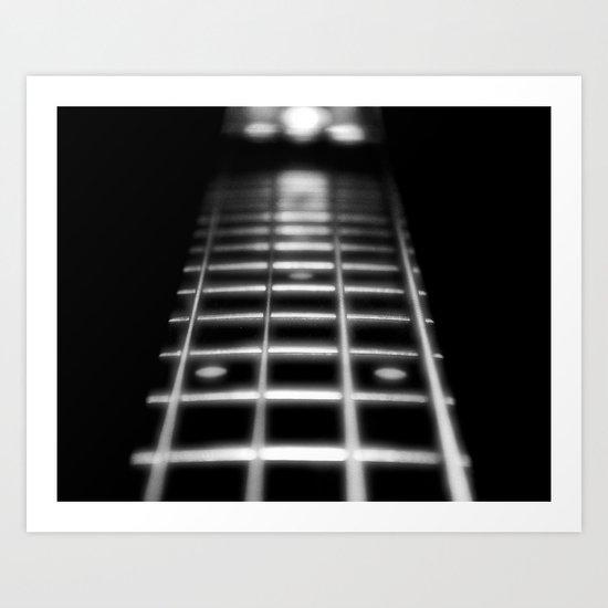 Guitar Fret Art Print