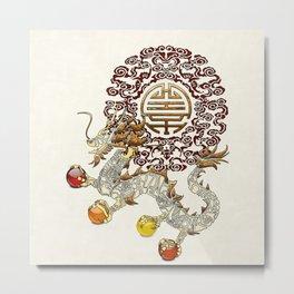Dragon Chakra Metal Print