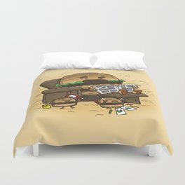The Dad Burger Duvet Cover