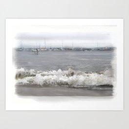 Capitola Harbor Art Print