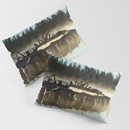 Mist on Gooseneck Trestle Pillow Sham