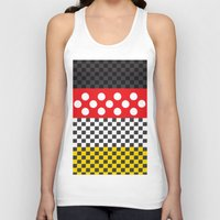 minnie mouse Tank Tops featuring Minnie by AmadeuxArt