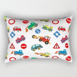 Kid cars, car and machine, tractor Rectangular Pillow