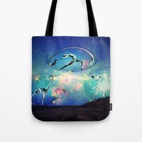 ballet Tote Bags featuring Ballet by Cs025