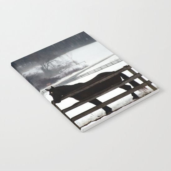 Horse in the Winter Fog Notebook
