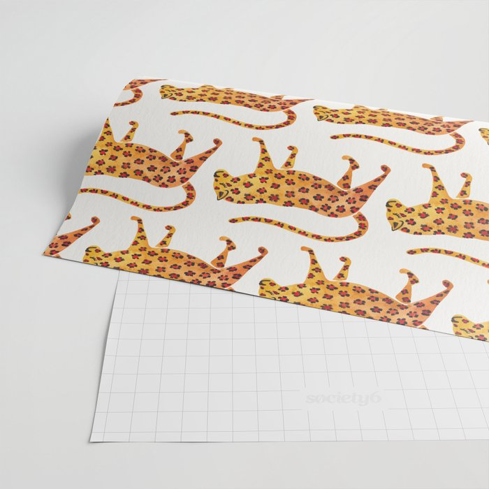 Jaguar Pattern Wrapping Paper