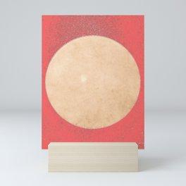 Imperial Coral - Moon Minimalism Mini Art Print