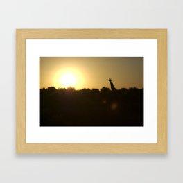 Outline Framed Art Print