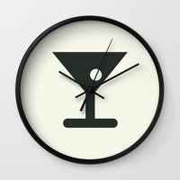 alcohol Wall Clocks featuring Alcohol by Alejandro Díaz
