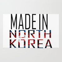korea Area & Throw Rugs featuring Made In North Korea by VirgoSpice