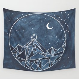 Night Court moon and stars Wall Tapestry
