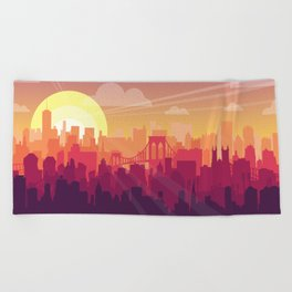 Brooklyn Sunset Beach Towel