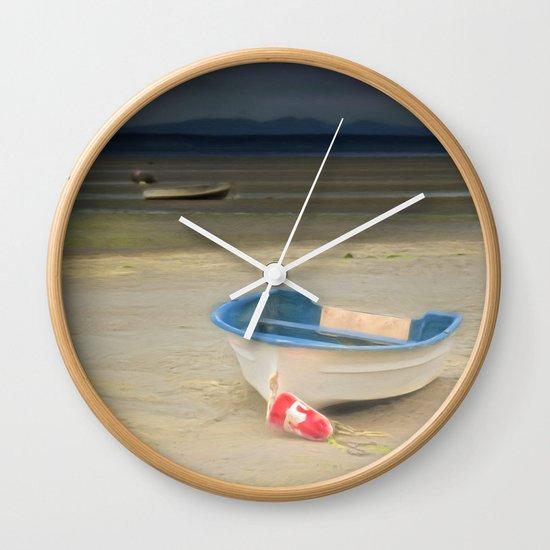 White Storm Wall Clock