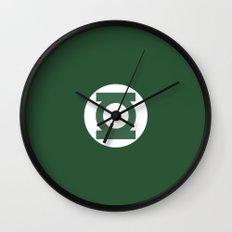 Green Lantern Vector Logo Wall Clock