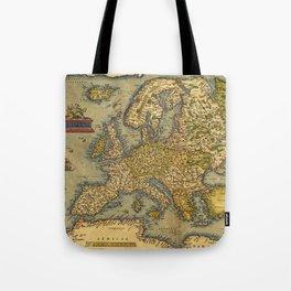 Vintage map of Europe Tote Bag