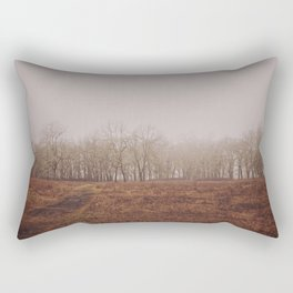 Foggy Trail to the Trees Rectangular Pillow