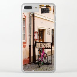 Hostel Parking Clear iPhone Case