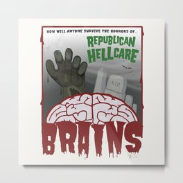 Republican HELLcare Metal Print