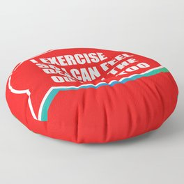 Exercise Dead Outdoor Funny Sore Muscle Gift Floor Pillow
