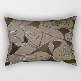 Cave Of Faces Rectangular Pillow