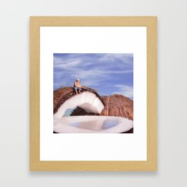 Lone Fisherman Framed Art Print