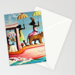 African American Masterpiece 'Too Early or Too Late' by O. Bulman Stationery Cards