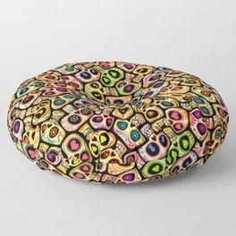 Calaveras del Día de los Muertos. Floor Pillow
