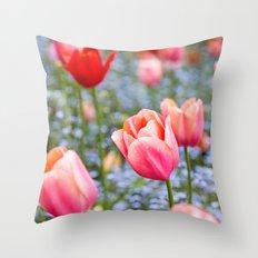 Keukenhof Tulips - Amsterdam Throw Pillow