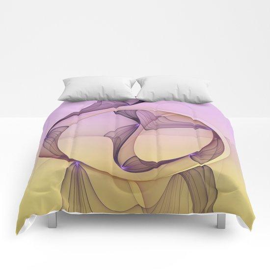 Modern Beauty, Abstract Fractal Art Comforters