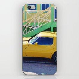 Yellow Chevy Vette iPhone Skin