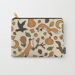 Orange You Glad It's Fall? (full color) Carry-All Pouch