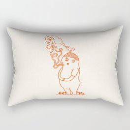 Your Little Cloudy Ghost (With Staches) Rectangular Pillow